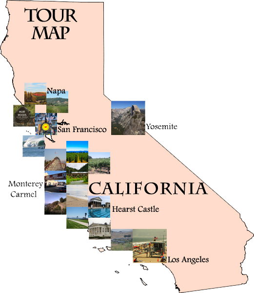 Hearst Castle California Map.2 Days California Coast Hearst Castle Tour From Los Angeles To San